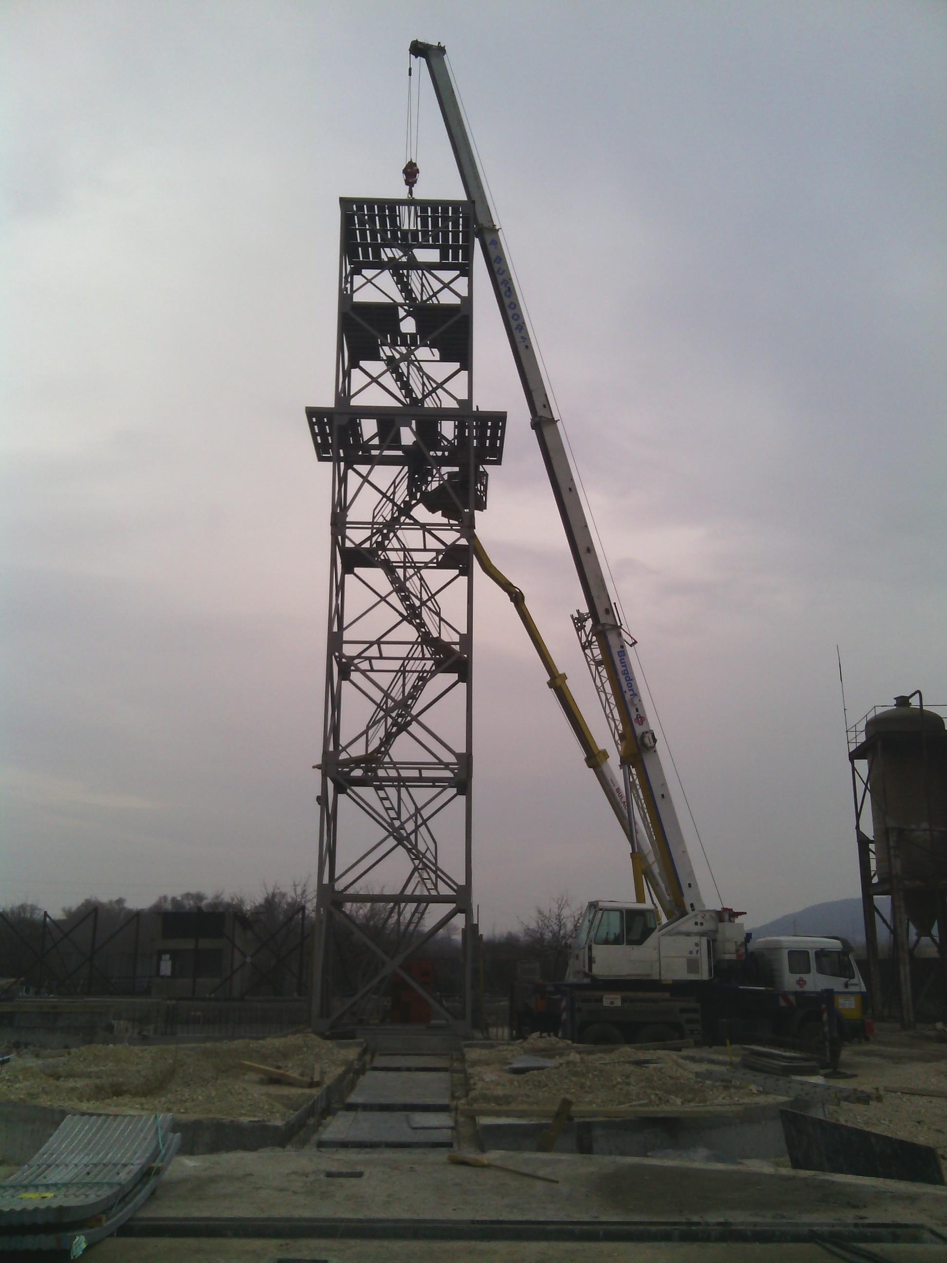 Монтаж на метална конструкция по височина